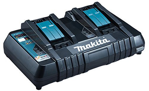 Makita DC18RD Cargador de batería - Cargadores y baterías cargables (Cargador de batería, Makita, Negro, 0,25 h, 0,75 h, Ión de litio)