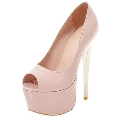 Atyche Damen Extreme High Heels Pumps mit Stiletto und Plateau Elegant Party Schuhe G7iQc