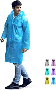 EVA Rain Poncho with Hood and Backpack Cover for Outdoor Activities Waterproof Raincoat