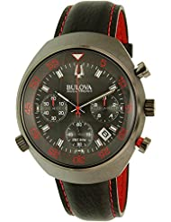 Bulova Men's Accutron II 98B252 Gunmetal Leather Quartz Watch