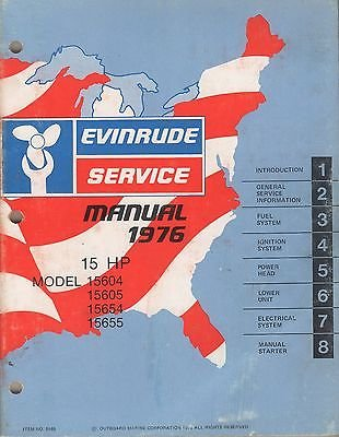 15 Hp Outboard Service Manual (1976 EVINRUDE OUTBOARD 15 HP SERVICE MANUAL P/N 5189 (064))