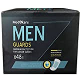 male bladder control - Medokare Incontinence Pads for Men - 450ml/16oz Maximum Absorbency Disposable Men Pads for Leakage, Discreet Cup Bladder Control Pads Shields for Men, Urine Leakage Protection Men Guards