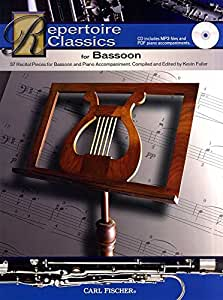 Repertoire Classics For Bassoon. Partituras, CD para Fagote, Acompañamiento
