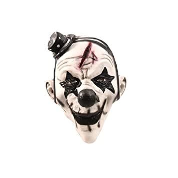 WETERS Halloween Horrific Demon Adult Scary Clown Cosplay Props Máscara De Demonio Flame Zombie