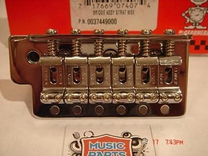 Fender Strat Mexi Tremolo Bridge Assembly Chrome