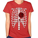 Skeleton Rib Cage | Red Novelty Halloween Costume Ladies' T-shirt