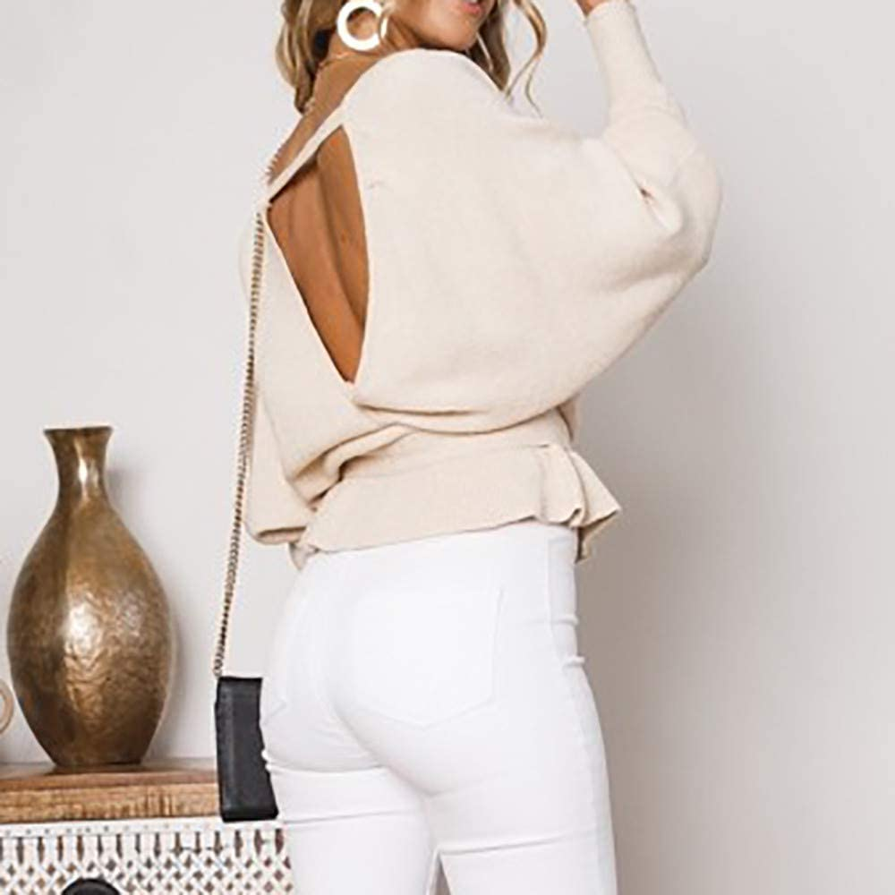 Pullover Donna Invernale ASHOP Moda Donna Autunno 2018 Maglione Invernale Donna Lungo Cachi S-XL