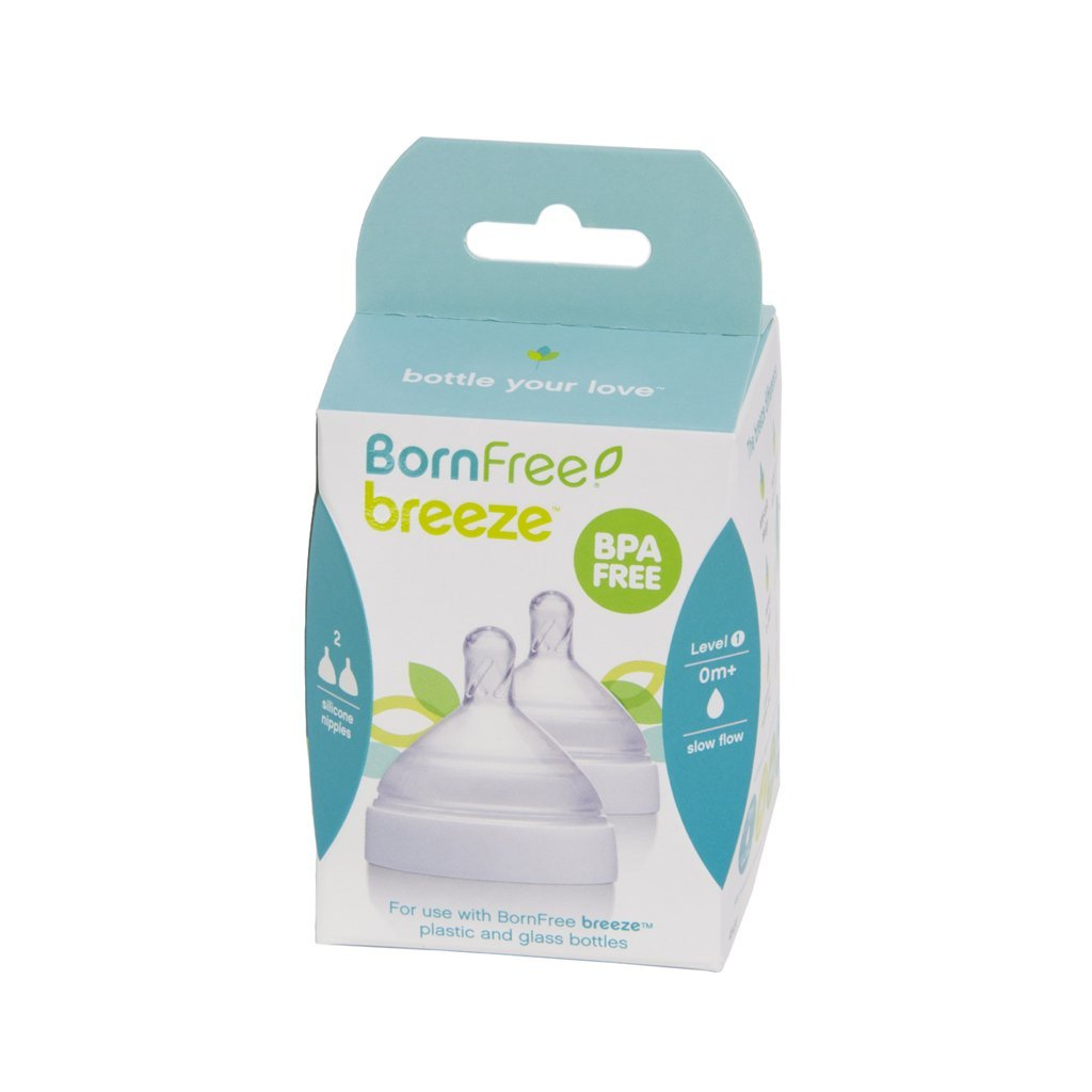 Born Free Breeze 2 Pack Nipple Level 1