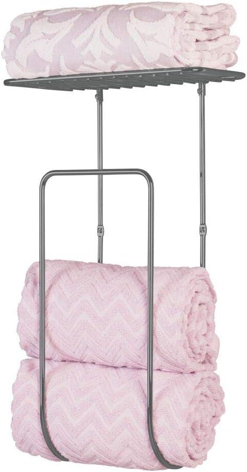 mDesign Organizador de toallas – Prácticos toalleros de baño de ...