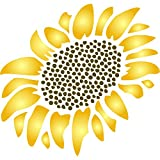"Sunflower Stencil - (size 10.5""w x 12""h) Reusable Wall Stencils for Painting - Best Quality Wall Art Décor Ideas - Use on Walls, Floors, Fabrics, Glass, Wood, Terracotta, and More…"