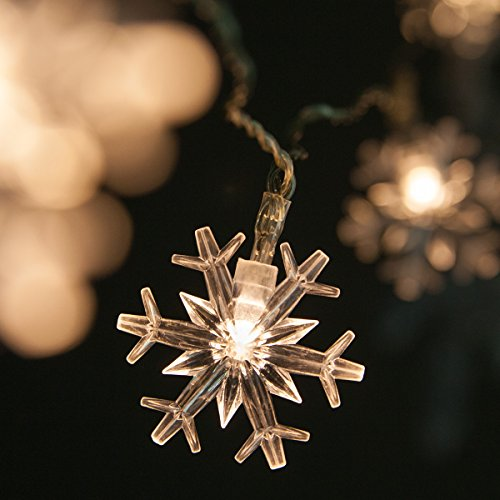 Led Twinkle Icicle Snowflake Christmas Lights in US - 5