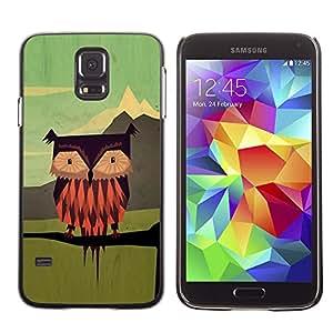 PC/Aluminum Funda Carcasa protectora para Samsung Galaxy S5 SM-G900 Green Vintage Vinaigrette Drawing / JUSTGO PHONE PROTECTOR
