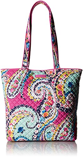 Vera Bradley Iconic Tote Bag, Signature Cotton, Wildflower Paisley, Wildflower Paisley, One Size