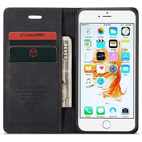 iPhone 6 Plus/6s Plus Wallet Case with ID Credit Card Holder Slots 5 5