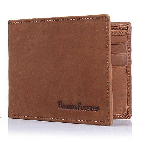b5526ec0417e Mens Wallet TOP-GRAIN Genuine Leather Wallet Bifold Trifold Slim Wallet  with RFID Blocking