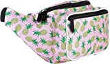 SoJourner Pineapple Fanny Pack Waist Bag | for women, men and kids | fits small medium large