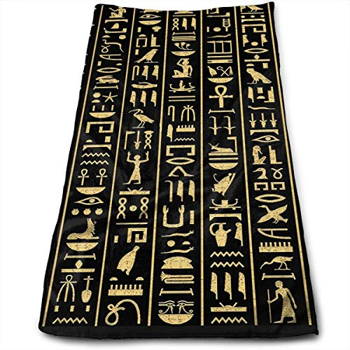 - CHJOO Towel Ancient Symbol Compressed Quick-Dry Velour Fingertip Towels Washcloth - Carry-on, Durable, Lightweight, Commercial Grade, Ultra Absorbent - 12x27.5 Inches