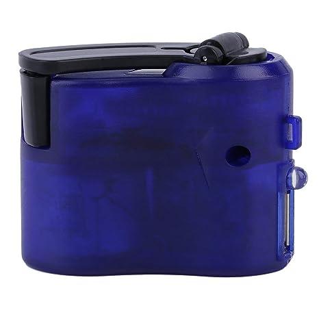 Nuevo plástico Azul y Elemento electrónico USB de Viaje Cargador de teléfono de Emergencia Mano Manual del dínamo Cargador Azul