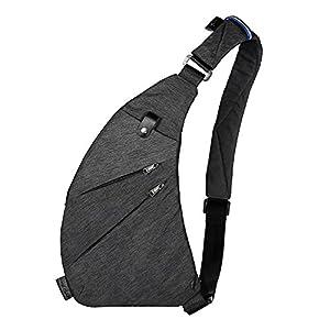 TOPNICE Sling Backpack Shoulder Chest Crossbody Bag Lightweight Casual Outdoor Sport Travel Hiking Multipurpose Anti Theft Cross Body Back Pack Bags for Men Women in Gray