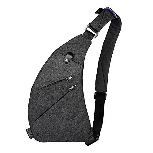 Bag Anti Theft Shoulder (TOPNICE Sling Back Pack Shoulder Chest Crossbody Bags Lightweight Casual Outdoor Sport Travel Hiking Multipurpose Anti Theft Sling Purse Bags for Men Women in Gray)