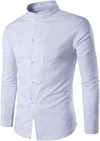 Camisa para Hombre Camisa China Costume Tang Suit Kungfu Taichi Tang Shirt Camisa: Amazon.es: Ropa y accesorios