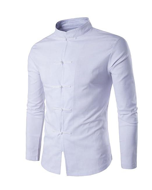 Gladiolus Camisa Para Hombre Camisa China Costume Tang Suit Kungfu Taichi  Tang Shirt Camisa  Amazon.es  Ropa y accesorios 22c96af885fb7