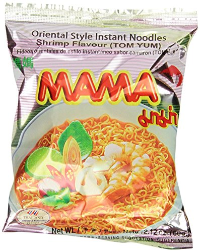 Instant Ramen - 30 2.12OZ Packages Mama Tom Yum Flavour Instant Noodles (Shrimp Flavored)