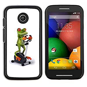 Stuss Case / Funda Carcasa protectora - Gimnasio Deportes rana blanca Papelería bicicletas - Motorola Moto E ( 1st Generation )