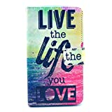 For Nokia Lumia 625 Case , IVY Live The Life You Love - Fashion Elegance Magnetic Snap Synthetic Leather Wallet Card Flip Synthetic Leather Stand With TPU Case Cover Skin For Nokia Lumia 625