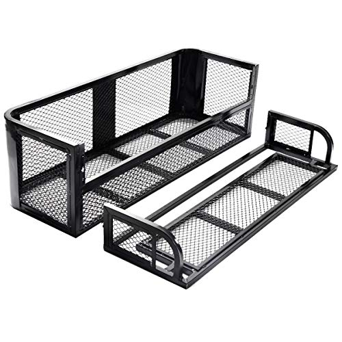 ATV UTV Universal Steel Cargo Hunting Rear Drop Basket Rack Universal Front Set by USA_BEST_SELLER (Image #3)