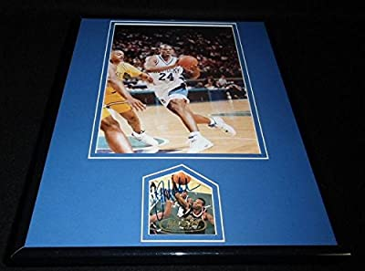 Jamal Mashburn Autographed Photograph - Framed 11x14 Display Kentucky - Autographed NBA Photos