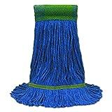 O-Cedar Commercial CB971565 Maxi-Clean Loop-End Mop Heads, Medium, 10 1/2 x 15 1/2, Blue (Case of 12)