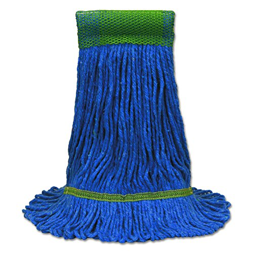 O-Cedar Commercial CB971565 Maxi-Clean Loop-End Mop Heads, Medium, 10 1/2 x 15 1/2, Blue (Case of 12) by O-Cedar