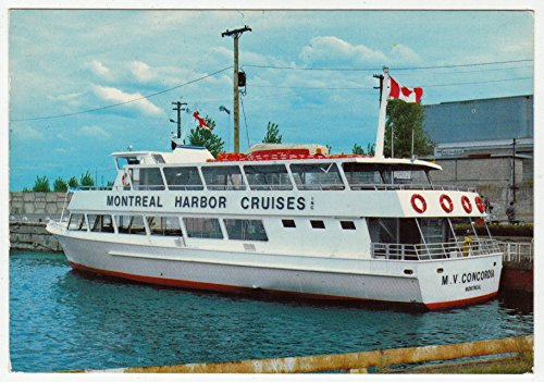 Montreal Harbor Cruises, Quebec Vintage Original Postcard #0298 - October 1983