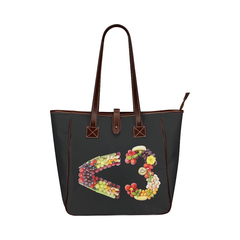 InterestPrint Women Tote Bags Waterproof Travel Shoulder Handbag Satchel Tote Bag Flower Fruits Vegetables