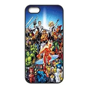 iPhone 4 4s Cell Phone Case Black Marvel comic febg