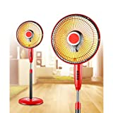 DW&HX Oscillating Heater Fan, Electric Overheat Protection Dish Heater Quiet Space Heater with Thermostat for Home Bathroom -A
