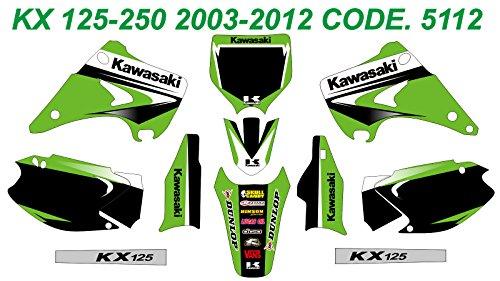 DOG RACING DESIGN 5112 KAWASAKI KX 125-250 2003-2012 GRAPHIC KIT