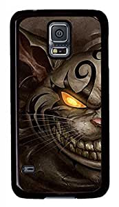 Angry Cat Black Hard Case Cover Skin For Samsung Galaxy S5 I9600