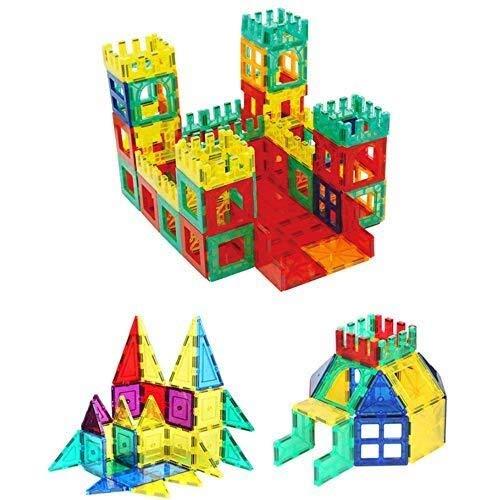 QNDYDB Kindermagnetspielzeug-BAU-Stapel-Ausrüstungen, Gebäude-Fliesen-Blöcke Für Die Pädagogische Kreativität, Kreatives Bildungs-Geschenk 130PCS