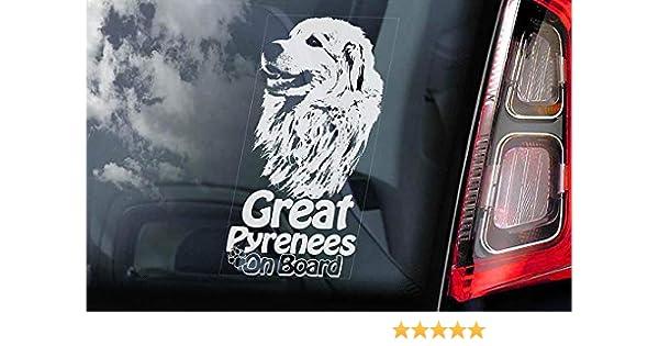 Pyrenean Mountain dog vinyl stickers// car decals// window decals