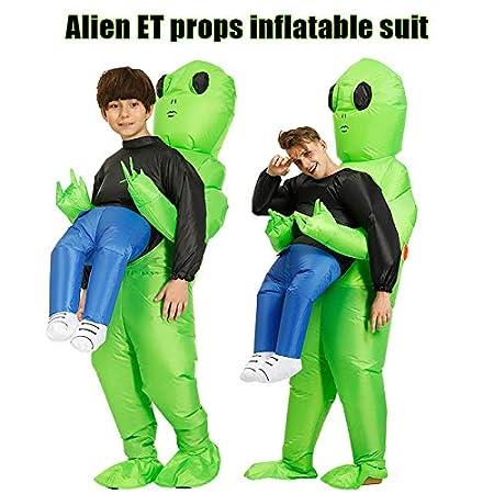 Ambility 2019 Halloween Costume Green Alien Carrying Human Costume ...