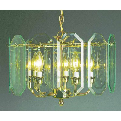 Volume Lighting V3195-C2 Chandelier, Polish Brass Finish - 5 Light Candle Chandelier