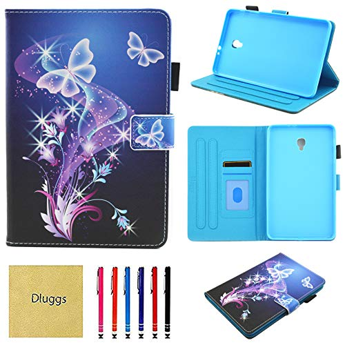 Samsung Galaxy Tab A 8.0 2017 Case, SM-T380 Case, Dluggs Lightweight PU Leather Folio Flip Stand Wallet Case for Galaxy Tab A 8.0 Inch 2017 Tablet Model SM-T380/T385, Butterfly (Samsung Galaxy Tab A 2017 Release Date)