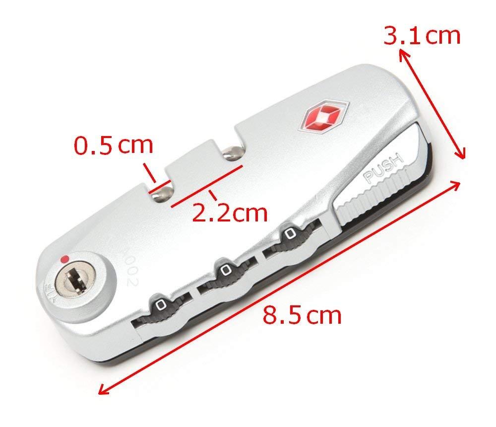 Testata Serratura TSA chiusura a combinazione ricambio per valigia trolley TSA 002 Distanza fori 6,5 cm
