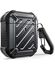 SUPCASE Unicorn Beetle Pro Series Case Designed for Airpods 1 & 2, Full-Body Rugged Protective Case with Carabiner for Apple Airpods 1st & 2nd