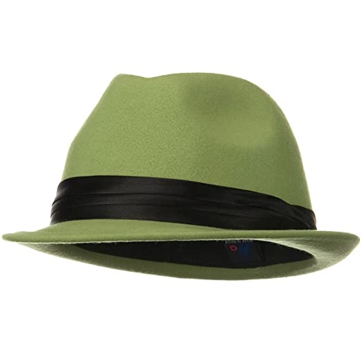ffc0e6847a4 Image Unavailable. Image not available for. Color  Ladies Wool Felt Fedora  ...
