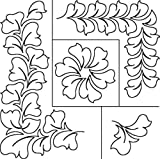 Sten Source 17-Inch by 20-Inch Quilt Stencils by Patricia Ritter, Hyacinth