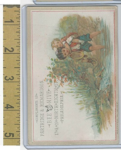 Victorian Card, 1890's, Partridge & Richardson, Philadelphia, for sale  Delivered anywhere in USA