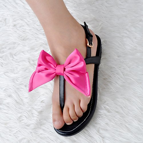 Buckle Black Sandales Femmes Kolnoo Barefoot Butterfly Chaussures Strap Bfcm Summer Flats IOqT7